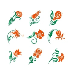 set of decorative elements for design vector image