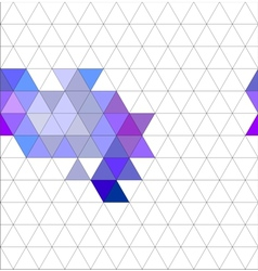 Tile triangle pattern or flat background vector image vector image