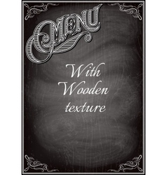 black chalkboard with a with wood texture vector image vector image