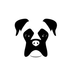 boxer dog muzzle black and white vector image