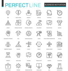 business motivation thin line web icons set brain vector image