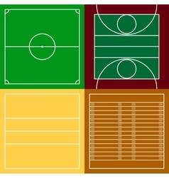 Top view of sport fields set vector image