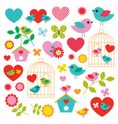 bird valentines day clipart vector image