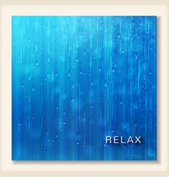 Blue shiny rain Abstract water background design vector image