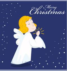 cute cartoon angel vector image