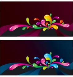 splashes on dark vector image vector image