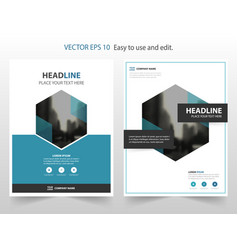 blue abstract annual report brochure design vector image vector image