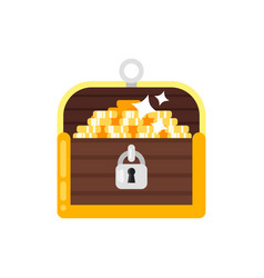 flat style of treasure chest vector image