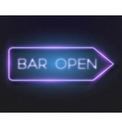 Neon frame glowing neon sign vector