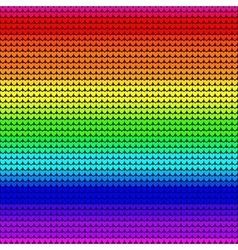 Rainbow colors seamless knitted background vector image