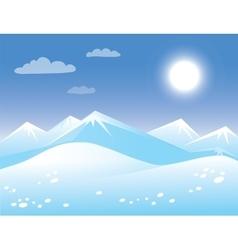 Spring arctic sunny landscape vector