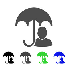 User safety umbrella flat icon vector