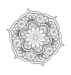 Zentangle stylized elegant black Mandala for vector image vector image