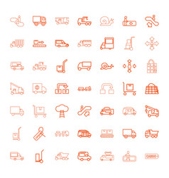 49 moving icons vector image