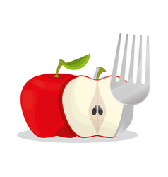 apple healthy food menu vector image