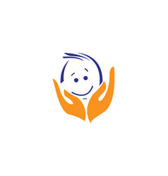 Baby care logo and icon vector