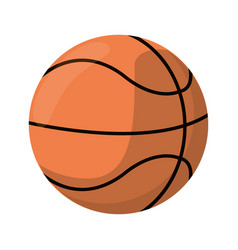 Basketball ball play icon vector