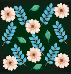 beautiful flowers pattern background vector image