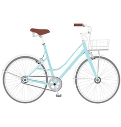 Bicycle blue2 01 vector