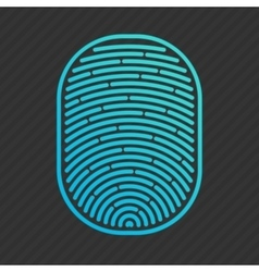 blue isolated fingerprint vector image