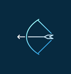 bow with arrow colored concept linear icon vector image
