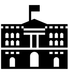 buckingham palace solid vector image