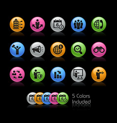 business opportunities icons - gelcolor series vector image