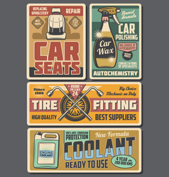 car auto accessories chemicals and service center vector image