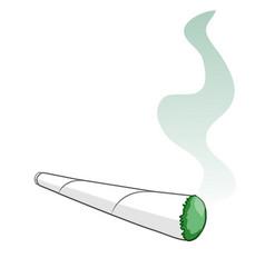 cartoon a rolled smoking cigarette clip art vector image