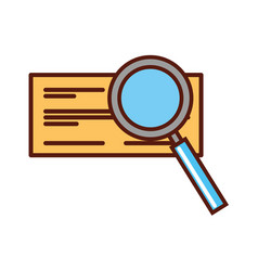 check bank with magnifying glass vector image