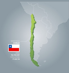 Chile information map vector