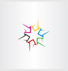 Colorful arrows sign symbol design vector