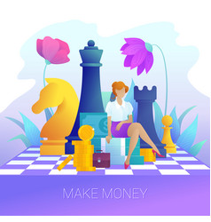 Concept strategy business and finance vector