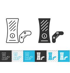 console simple black line icon vector image