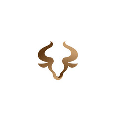 creative bull head logo vector image