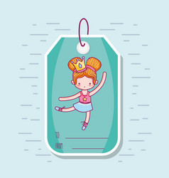 decoration tag with art ballet design vector image