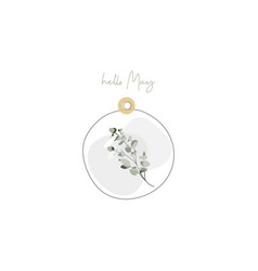 delicate glass capsule with eucalyptus vector image