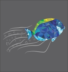 Diamonded Fish fly vector