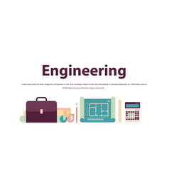 different engineering tools icons set construction vector image
