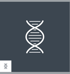 dna related glyph icon vector image