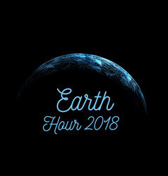 earth hour is an international action calling vector image