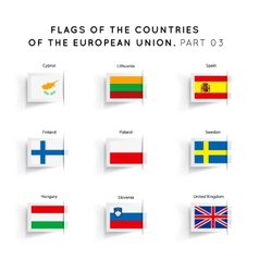 flags eu countries vector image