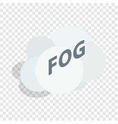 fog cloud isometric icon vector image