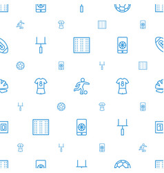 football icons pattern seamless white background vector image