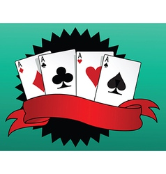 Game of cards vector