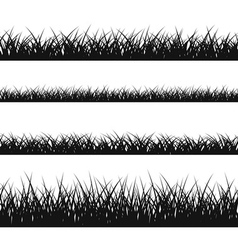 Grass silhouette seamless pattern vector image