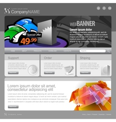 Gray Website Template 960 Grid vector