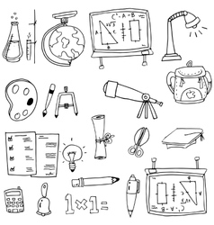 Hand draw element education in doodle vector image
