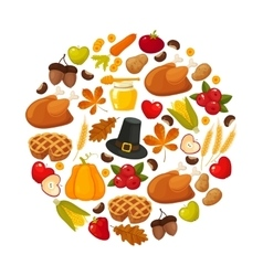Happy thanksgiving day banner with vector