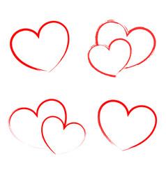 heart draw handmade icon symbol logo creative vector image